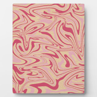 Abstract liquid pattern plaque