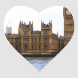 abstract london - westminster heart sticker