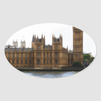 abstract london - westminster oval sticker