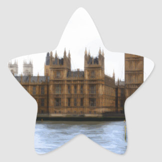 abstract london - westminster star sticker