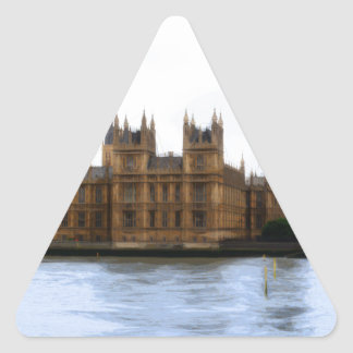 abstract london - westminster triangle sticker