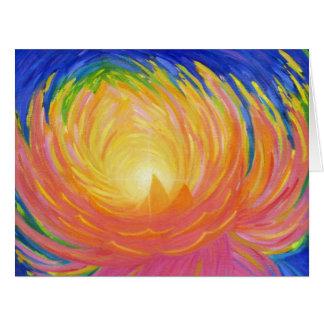 Abstract Lotus Flower Big Greeting Card