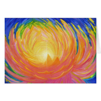 Abstract Lotus Flower Card