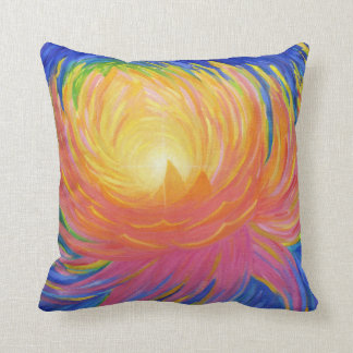 Abstract Lotus Flower Throw Pillow