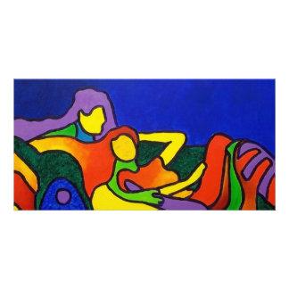Abstract Love by Piliero Custom Photo Card