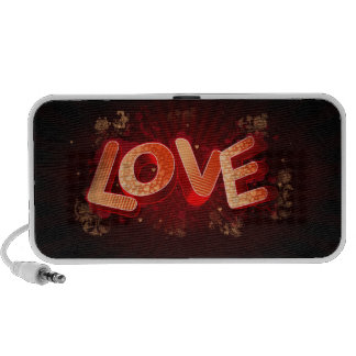 abstract love laptop speakers
