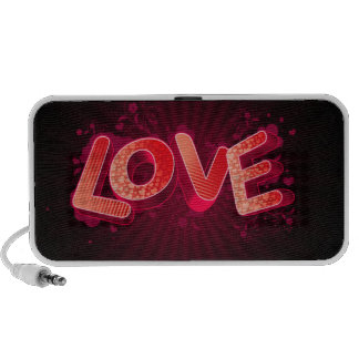 abstract love pink iPod speakers