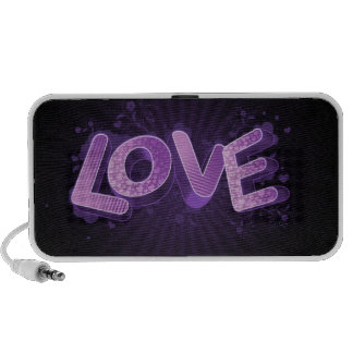 abstract love purple portable speakers