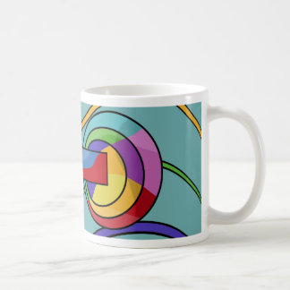 Abstract machine coffee mug