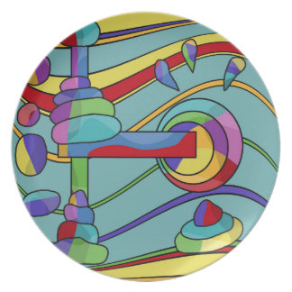 Abstract machine plates