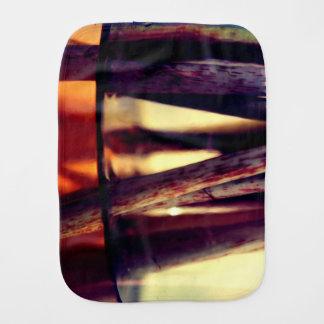 Abstract macro burp cloth