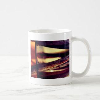 Abstract macro coffee mug