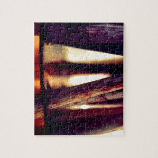 Abstract macro jigsaw puzzle