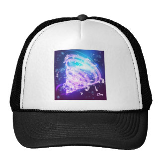 Abstract Magic Music Musical Notes Background Trucker Hat