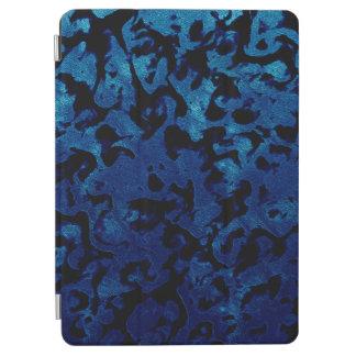 Abstract Magic - Navy Blue Grunge Black iPad Air Cover
