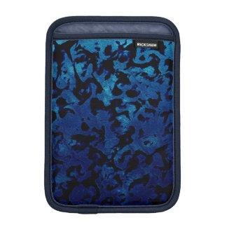 Abstract Magic - Navy Blue Grunge Black iPad Mini Sleeve