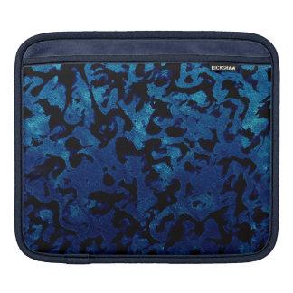 Abstract Magic - Navy Blue Grunge Black iPad Sleeve
