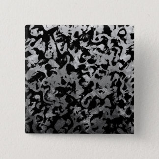 Abstract Magic - Silver Black 2 Inch Square Button