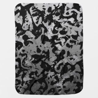 Abstract Magic - Silver Black Baby Blanket