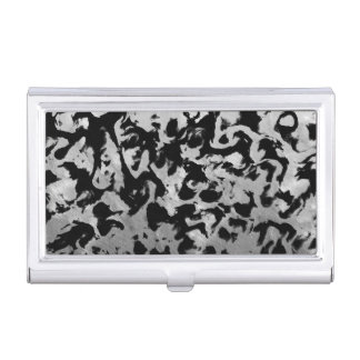 Abstract Magic - Silver Black Business Card Holder
