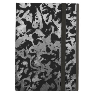 Abstract Magic - Silver Black Cover For iPad Air
