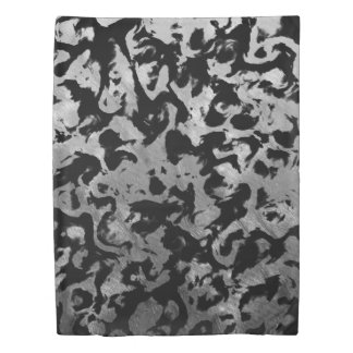 Abstract Magic - Silver Black Duvet Cover