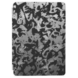 Abstract Magic - Silver Black iPad Air Cover
