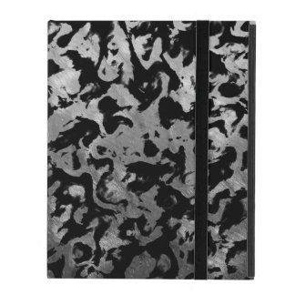 Abstract Magic - Silver Black iPad Cover