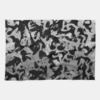 Abstract Magic - Silver Black Kitchen Towel