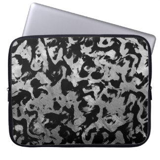 Abstract Magic - Silver Black Laptop Sleeve