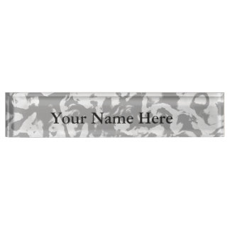 Abstract Magic - Silver Black Nameplate
