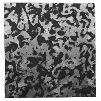 Abstract Magic - Silver Black Napkin