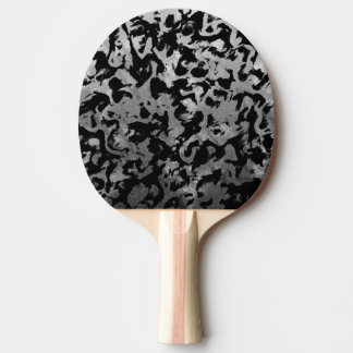 Abstract Magic - Silver Black Ping Pong Paddle