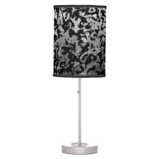 Abstract Magic - Silver Black Table Lamp
