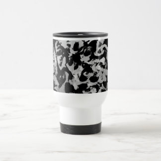 Abstract Magic - Silver Black Travel Mug
