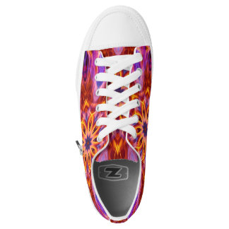 Abstract Magical Red   Low-Top Sneakers