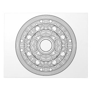 Abstract Mandala Coloring Book Pad