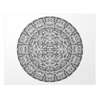 Abstract Mandala Coloring Book Pad