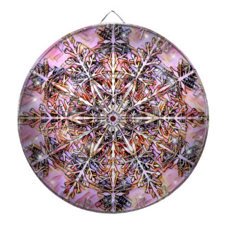 Abstract Mandala Dart Board by Artful Oasis