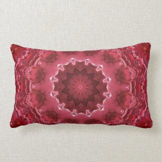 Abstract , mandala , kaleidoscope lumbar pillow