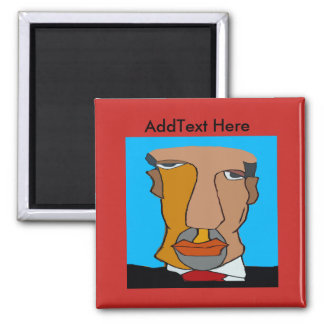 Abstract Man's Face 7 Magnet