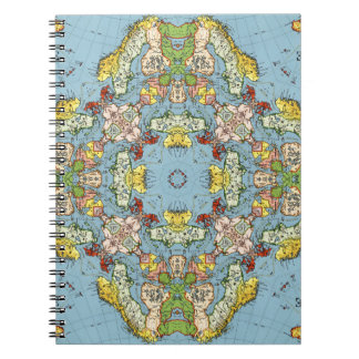 Abstract Map of Europe Note Book