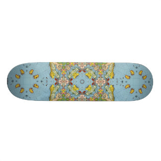Abstract Map of Europe Skate Decks