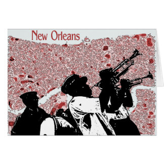 Abstract Map of New Orleans Card