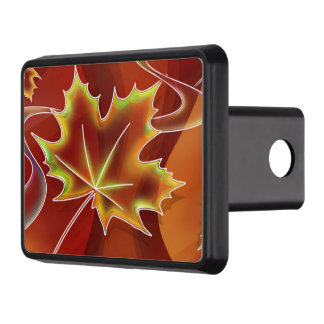 Abstract Maple Leaf Trailer Hitch Cover