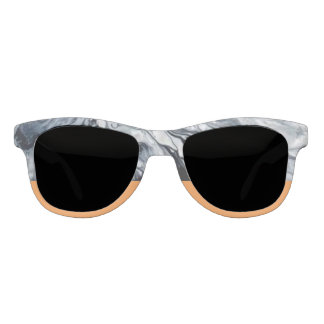 Abstract Marble and Tangerine Statement Sunglasses