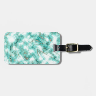 Abstract marble blue luggage tag