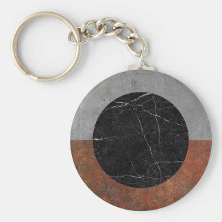 Abstract - Marble, Concrete, Rusted Iron Basic Round Button Keychain