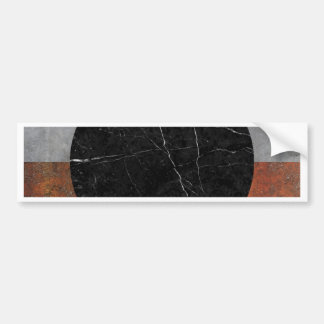 Abstract - Marble, Concrete, Rusted Iron Bumper Sticker