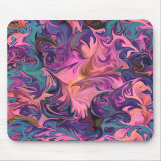 Abstract Marble Pattern Mouse Pad